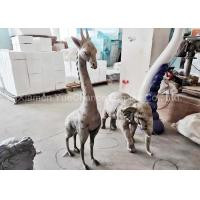 China Indoor Mini Size Fiberglass Animal Statues Giraffe And Elephant Statues wholesale