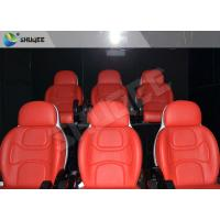 China Hydraulic Dynamic 5D Theater System Red Motion Chairs With Special Effect wholesale