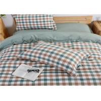 China Multi Color Washed Cotton And Plaid Cotton Bedding Sets / Full Size Comforter Sets wholesale