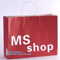 China Luxury Recycled Printing Logo Shopping Pack Custom Paper Bag Shopping Bag With Logo,Carrier Ribbon Tie Gift Shopping Pap on sale