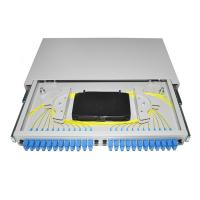 China Pigtail Fiber Optic Patch Panel 19'' Rack Mounted OTB ODB 12 24 Port SC Connector wholesale