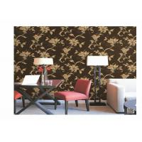 China Home Decoration PVC Embossed Wallpaper Waterproof With European Flower wholesale