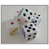 China Cheap dice with customized logo resin dice  wholesale