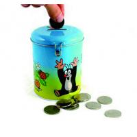 China round coin bank tin box wholesale