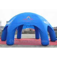 China 32x16ft Blue Inflatable Dome Tent for sporting events wholesale