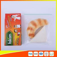 China FDA Approved Clear Small Plastic Zip Lock Bags For Sandwich Moisture Proof wholesale