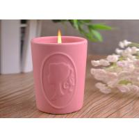 China Character Candle Cup Holders Ceramic Candle Containers With Candle Light wholesale