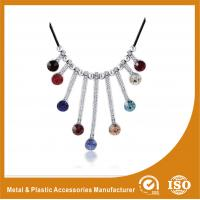 China Silver Colorful Stones Lace Collarbone Necklace Costume Accessories wholesale