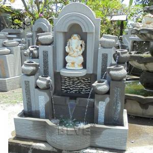 China BLVE Stone Ganesh Water Fountain Hindu God Ganesha Statue Garden Wall Fountains House Decorative wholesale