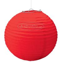 China Solid Color Round Paper Lanterns For Party , Hanging Paper Lanterns Dia 10cm -20cm wholesale