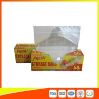 Food Preservation Freezer Zip Lock Bags Reusable For Home / Supermarket Use for sale