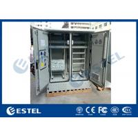 China IP55 Two Compartment Galvanized Steel Outdoor Telecom Cabinets Floor Mounting Type wholesale