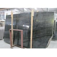 China Ancient Wood Black Marble Stone Slabs Large Marble Tiles For Building wholesale