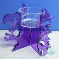 China CH (19) Acrylic goblet candle holder wholesale