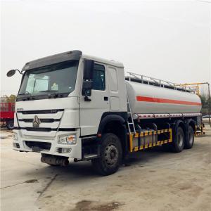 China SINOTRUK HOWO 20CBM 25CBM Liquid Tanker Truck , Refueling Oil Tanker Truck on sale