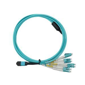 China Duplex LC Connector FTTX 5m MPO Breakout Patch Cord LSZH wholesale
