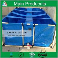 China New design portable movable flexible cube structure 2000 liter scaffold fish tank wholesale