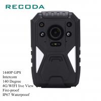 China 1440P HD 4G Wifi Body Camera Real Time Video GPS Fireproof 10 Hours Battery Life wholesale