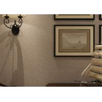 China Embossed Modern Removable Wallpaper Solid Color Wallpaper With Line Printing wholesale