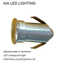 China Stainless stell waterproof outside 1W LED inground light/waterproof led underground light wholesale