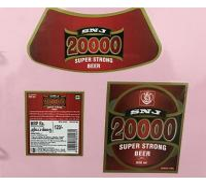 China Custom Made Self Adhesive Beer Labels Square Matte / Glossy Lamination wholesale