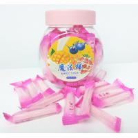 China Pink Magic Stick Healthy Hard Candy , 4g Strawberry Hard Candy wholesale