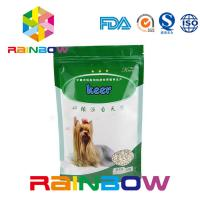 China Foil Stand Up Pet Food Pouch With Zipper , 500g Plastic Dog Treats Packaging Bag wholesale
