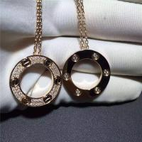 China Cartier Love Necklace 18K Yellow Gold , Pave Diamond Necklace B7058400 on sale