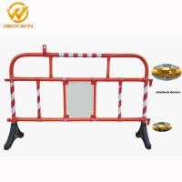 China 1500*1000Mm Road Plastic Traffic Barriers 360 Degree Swiveled Feet Interlock wholesale