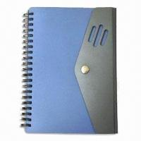 China Promotional Spiral Notebook with Flap, PP Cover and Closure, Customized Design are Welcome on sale