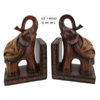 China Home Decoration Polyresin Elephant Bookend Crafts on sale