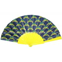 Custom printed hand fans / Yellow , black , white rustic wedding fans
