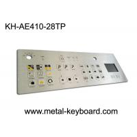 China IP65 Dustproof Rugged Industrial Metal Stainless Steel Keyboard with Touchpad wholesale