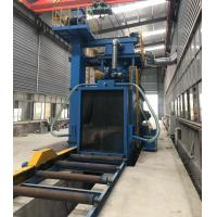 China Heavy Duty Beams Roller Conveyor Blast Machine With Cartridge Filter Dustless on sale