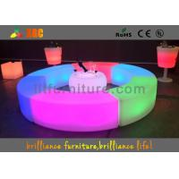 China PE LED Bar Stool / Bench Curved Durable For Outdoor / Indoor wholesale