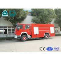 Emergency Rescue Fire Fighting Truck 4 X 2 Red Color 16 Ton Crane Capacity