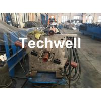 China Aluminum Or Galvanized Steel Round Downspout Roll Forming Machine For Making Water Pipe, Rainwater wholesale