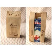 China Bread / Milk Kraft Paper Bags Laminated Multi-Layers With Clear Window wholesale