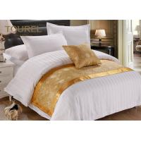 China Custom Printed Polyester Canvas Gold Bed Runner / Burlap Table Runner wholesale