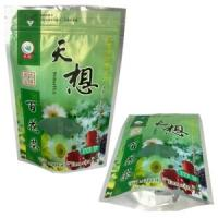 China 100g, 250g Stand up Tea packaging bag with zipper,  Coffee / tea / cocoa / cookies wholesale