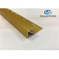 China Polishing Golden Aluminium Square Metal Floor Aluminium Trim  With Logo Punched wholesale