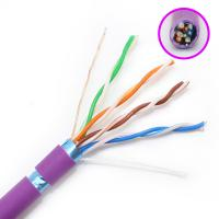 China FTP Category Cat5e Network Cable HDPE Insulation With Purple Color Jacket wholesale