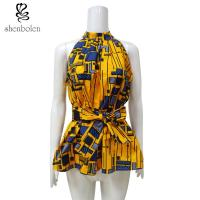 China Kitenge Fabric African Attire Print Tops Anti - Static Wear Confortable wholesale