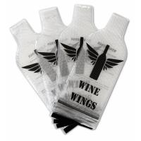 China NEW PVC Plastic Protective Wine Bubble Skin Bag for Wine Bottle Protector. transprent PVC Material wholesale