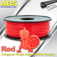 China Multi Color 1.75mm / 3mm ABS 3D Printer Filament Red With Good Elasticity wholesale