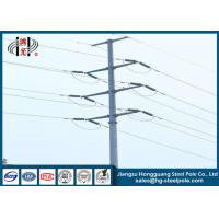 China High Voltage 220KV Galvanised Electric Power Pole For Transmission Line Project wholesale