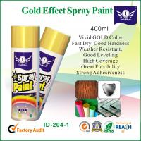 Gold Metallic Aerosol Spray Paints For Metal / Glass With Strong Adhesive