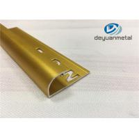 China Polishing Golden Aluminium Floor Strips / Aluminium Tile Trim Flooring Accessories wholesale