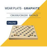 China Wear Strip Ways Plain Bearing Solid Bronze Graphite Plugs Drilled & Counterbored Holes wholesale