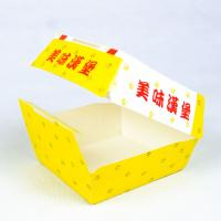 China Disposable Paper Box Hamburger Packaging Box With Customized Logo And Printing Content wholesale